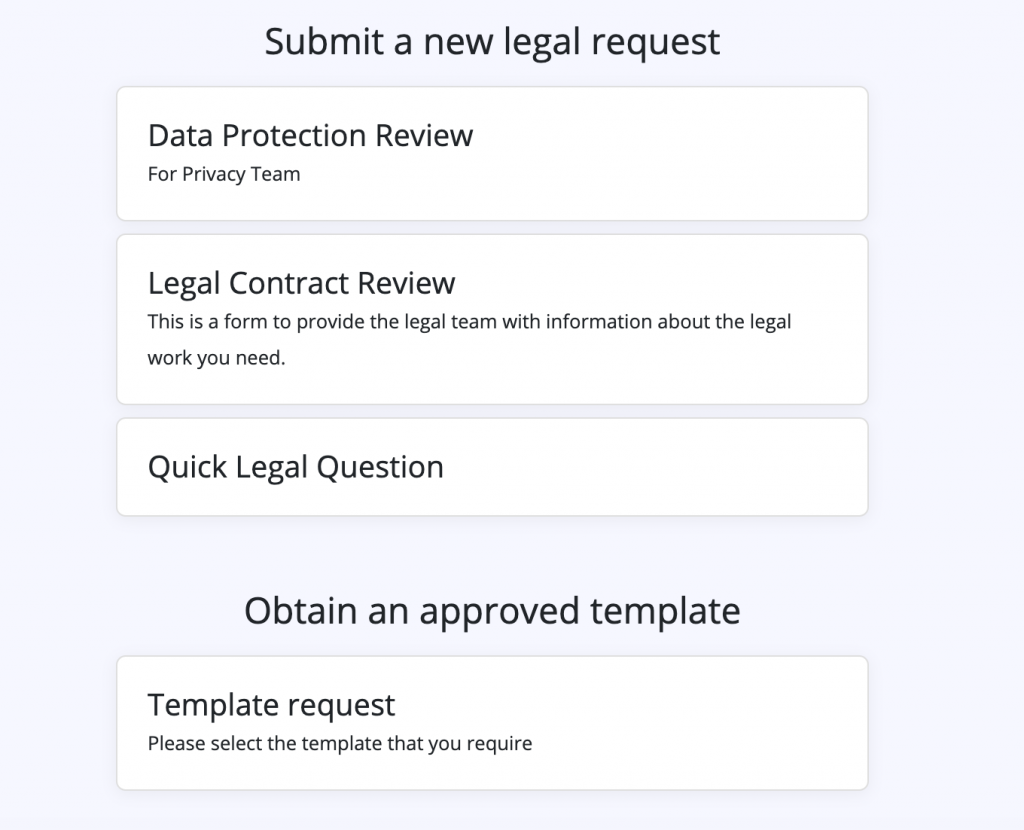 Legal Front Door Smart Legal Intake forms